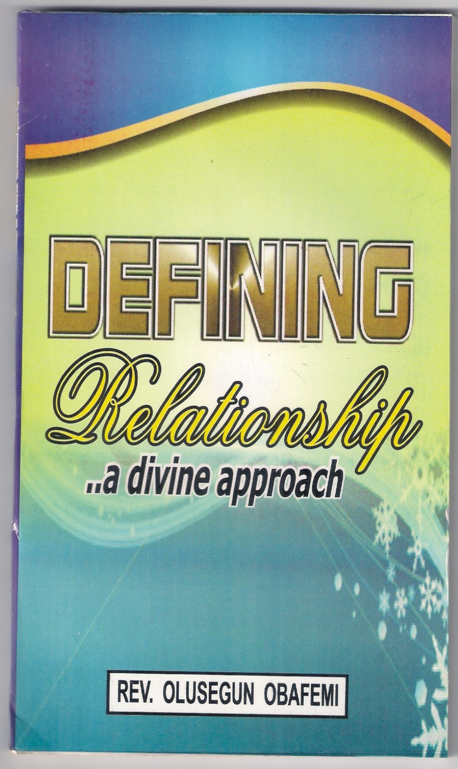 Defining Relationship Book Cover