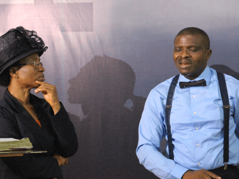 Reverend Olusegun and Clara Obafemi in a joint session